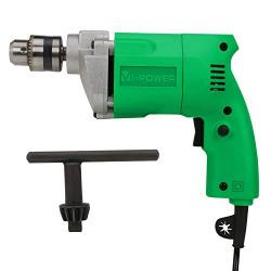 Suzec VI Power 300W, 50Hz 220V Electric Drill, Chuck Size 10mm, Green (VP 1001)