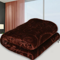 SPANGLE Solid Single AC Blanket(Polyester, Dark Brown)