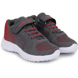 Miss & Chief Boys Velcro Running Shoes(Red)