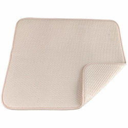 Primeway Checkered Extremely Absorbent Microfiber Dish Drying Mat, 240 Gsm, 40X45Cm, Cream