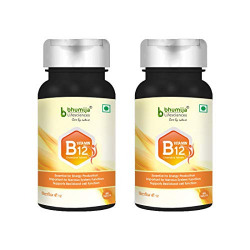 Bhumija Lifesciences Vitamin B12 1500 mcg with Folic Acid and Methylcobalamin Supplements 60 Chewable Tablets Pack of 2