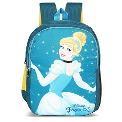 Priority Disney Princess Cinderella 25 litres Blue Polyester School Bag | College Bag | Casual Backpack