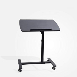 Coirfit Smart Homes Portable Height Adjustable Multipurpose Laptop Study Table Desk with Caster Wheels for Kids and Adults (Black)