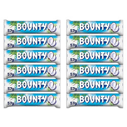Bounty Coconut Filled Chocolates - 57g Bar (Pack of 12)