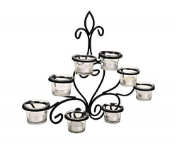 Lexton Metal 8 Cup Wall Sconce with Tealights - Multicolour, Standard (Lex-Sconce)