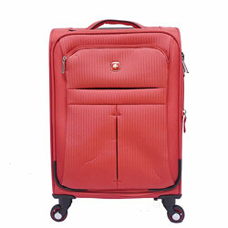 Swiss Gear Polyester 48 cms Red/Black Softsided Cabin Luggage (6593112154)