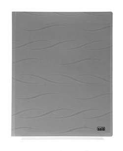 Solo CC- 115 Meeting Folder (with Secure Expandable Pocket) A4 - Wave Grey