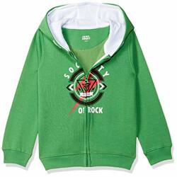 Amazon Brand - Jam & Honey Boys' Sweatshirt (JHAW20BSWT017_Green_8-9 Years)
