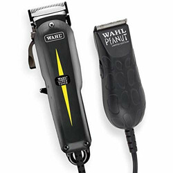 WAHL 08331-024 Professional All Star Clipper+Trimmer Combo Features Super Taper and Peanut Trimmer (Black)