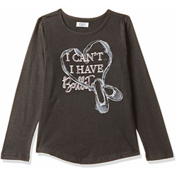 OVS Girl's Floral Regular fit T-Shirt (332432_Nine Iron 3-4)