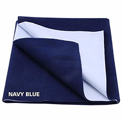 Dolphers Drysheet for Baby/Mattress Protector/Reusable Mat/Absorbent Sheets/Sleeping Mats - Small Size: 70cm X 50cm - Navy Blue - Usage for Baby & Adults