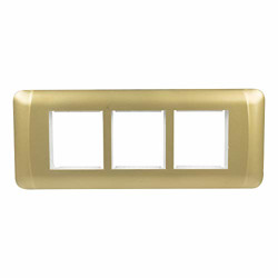 Havells ORO 6 Module Cover Plate (True Gold)