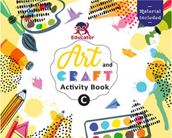 Art and Craft Activity Book C for 3-4 Year old kids with free craft material