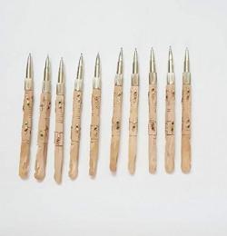 King Handicrafts Home Decoration handicrafts   Wooden Hand Work Boll Pen