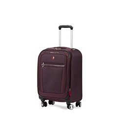 Swiss Gear Polyester 27.30 cms Purple Softsided Cabin Luggage (7760919154)