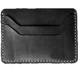 rashidi Men Black Genuine Leather Card Holder(2 Card Slots)