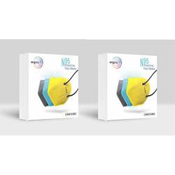 Wipro N95 Face Mask 6 Pcs (Grey/Yellow/Blue)