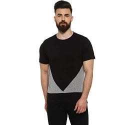 Campus Sutra Men's Solid Regular fit T-Shirt (CT20PRM_RNHSVD_M_PLN_BLGR_BL XL)
