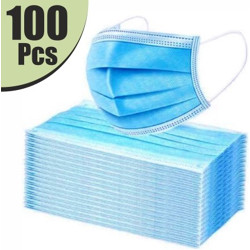 VeBNoR 3L100 Extra Thick Extra Protective 100 Piece Blue Washable Reusable 3L-N95-KN95 Reusable, Washable Surgical Mask(Blue, Free Size, Pack of 100, 3 Ply)
