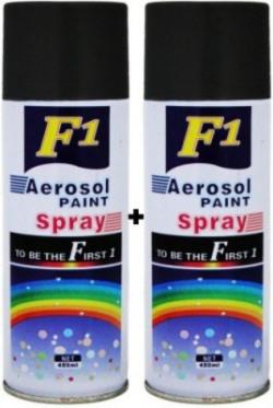 F1 PREMIUM BLACK Spray Paint 900 ml(Pack of 2)
