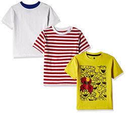 Cloth Theory Boys' T-Shirt (Combo Pack of 3)(CTBP 22_Multicolour_7-8 Years)