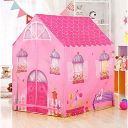 Ajudiya's® Jumbo Size Extremely Light Weight , Water Proof Kids Play Tent House for 10 Year Old Girls and Boys (Doll House)