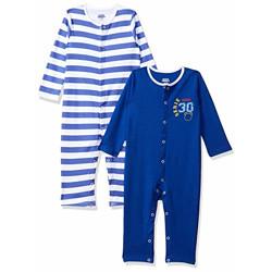 Amazon Brand - Jam & Honey Baby Boy's Bodysuit (Pack of 2) (BSLPPO2-(W/O) S-C_Multicolor2_0-3 Months)