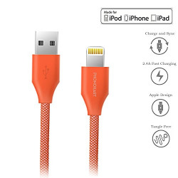 Phonokart Virat Apple Mfi Certified Original Lightning to USB Cable for iPhone, iPad and iPod, Super Fast Data sync & Charging Data Cable up to 2.4Amps (Black) (Red)