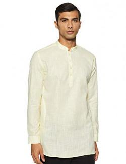 Integriti Men's Cotton Kurta (CSL-SK-3118_Lt Yellow_X-Large)