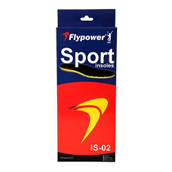Flypower Unisex Latex Insoles is 02, Size 37 (Multicolor)
