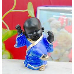 ArtofDot Home decor showpieces buddha statue for home decor Decorative Showpiece  -  13 cm(Polyresin, Blue)
