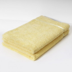 Story@home 2 Piece Cotton Bath Linen Set(Yellow, Pack of 2)
