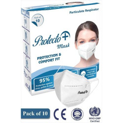 MEDIPOL PROTECTO PLUS N-95 Reusable, Washable(White, Free Size, Pack of 10)