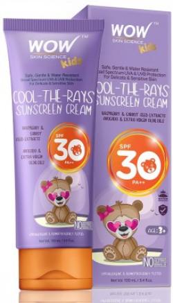 WOW SKIN SCIENCE Kids Cool-the-Rays Sunscreen Cream - SPF 30+ PA+++ - SPF 30+ PA+++(100 ml)