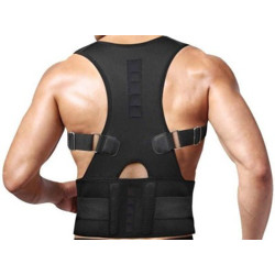 Jager-Smith Premium Magnetic Posture Corrector PC-101 Back Support(Black)