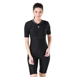 TYR in Aerofit Kneesuit Swim Active XXX-Large (Black/Anthracite)