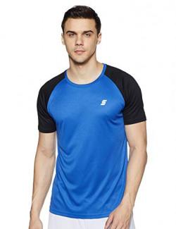 Amazon Brand - Symactive Men's Color Block Regular Fit Half Sleeve Sports T-Shirt (AW17-SYSP-02A_Cobalt_Medium)