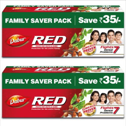Dabur Red Paste Toothpaste(1000 g, Pack of 2)