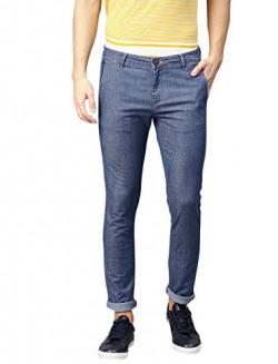 AMERICAN CREW Men's Slim Fit Jeans (ACJN586-36_Blue_36)