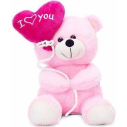 Miss & Chief Premium Quality Super soft And Cute Pink Balloon Teddy  - 25 cm(Multicolor)