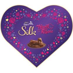 Cadbury Dairy Milk Silk Valentines Heart Shaped Gift Box, 324g Bars(324 g)