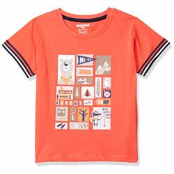 CUCUMBER Baby Boys Regular Tshirt (Z561_peach_XXL)