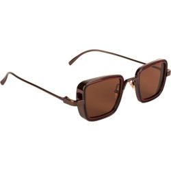 FARENHEIT Rectangular Sunglasses(For Men & Women, Brown)