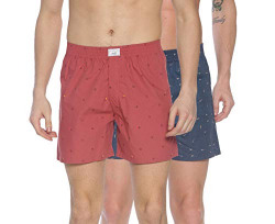 DIVERSE Men's Opaque Printed Boxer Shorts (Pack of 2) (DCMBS01SC09L34-321_Red, Navy Blue_Small)