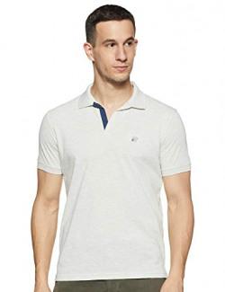 Cazibe Solid Regular Men's T-Shirt (CZ11114_Ecru M)
