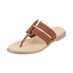 Apply coupon - Walkway Women's Tan Fashion Slippers - 8 UK (41 EU) (32-449)