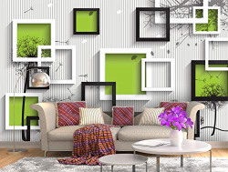 999Store 3D Abstract Pattern Wallpaper (Self-Adhesive_5X4 Feet_Multi)