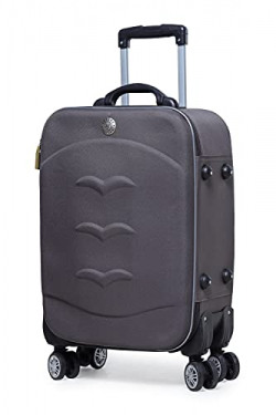 Verage Nairobi 57 cms Grey Cabin/Carry-on Trolley Detachable 8 Wheels Soft Sided Suitcase Spinner Luggage (20 Inch)