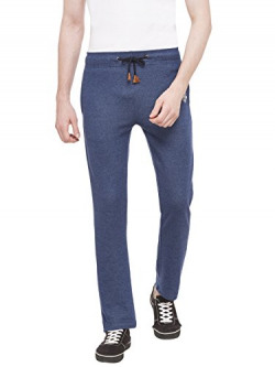 Status Quo Men's Casual Trousers (Trk-251_Indigo Melange_Large, Blue, 30)