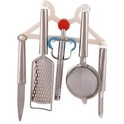 SakariyaSales Kitchen Utility Tools Set Kitchen Tools, (Gas Lighter, Knife, Peeler, Strainer & Peeler) [5 pcs]